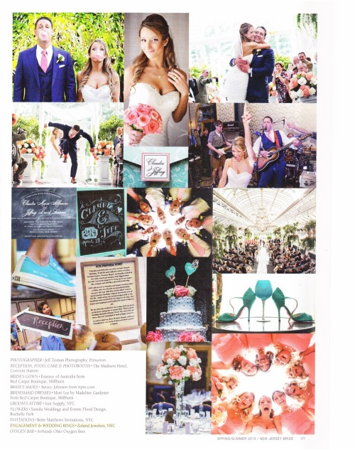 Featured in New Jersey Bride Magazine