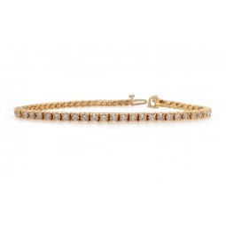 Classic Diamond Tennis Bracelet - Yellow Gold