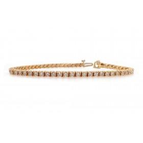 Classic Diamond Tennis Bracelet - Yellow Gold