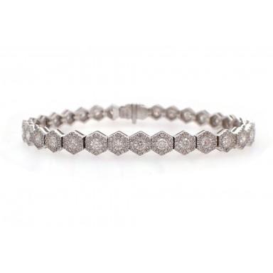 Hexagonal Diamond Bracelet