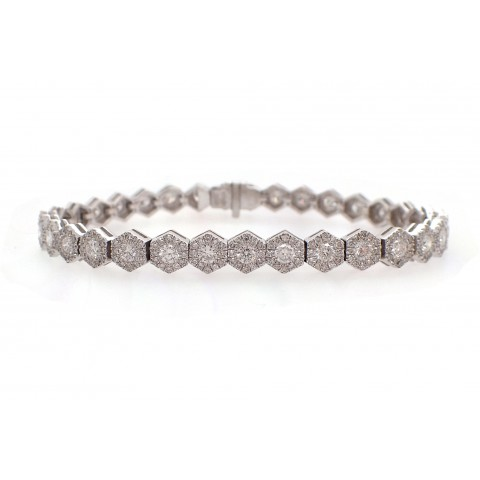 Hexagonal Diamond Bracelet