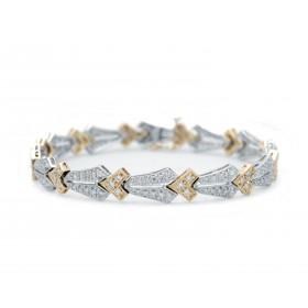 Antique Style Two-Tone Arrow Bracelet