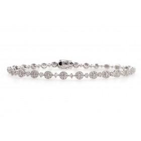 Round Cluster Diamond Bracelet