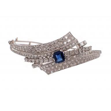 Estate Sapphire and Diamond Bracelet