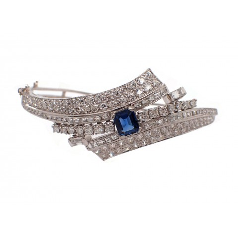 Estate Sapphire and Diamond Bracelet