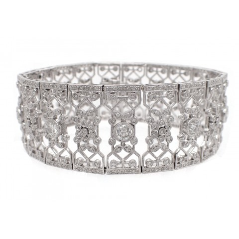 Magnificent Antique Style Wide Filigree Bracelet