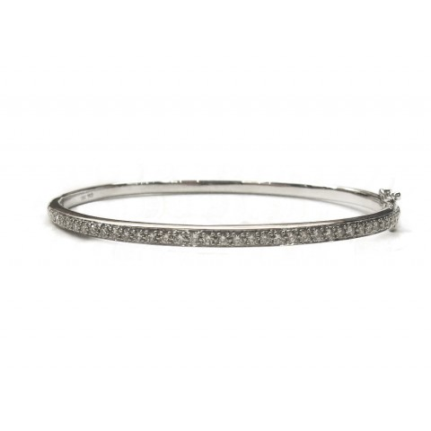Sleek Diamond Bangle Bracelet
