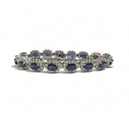 Stunning Sapphire and Diamond Bracelet (Medium)