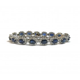 Stunning Sapphire and Diamond Bracelet (Medium)
