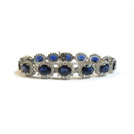 Stunning Sapphire and Diamond Bracelet (Large)
