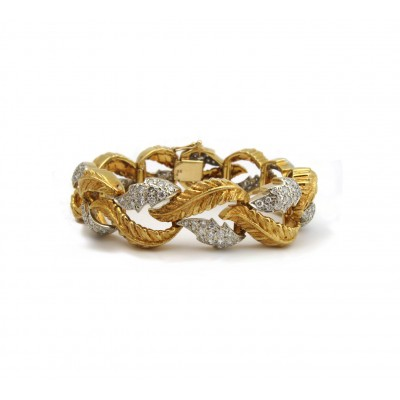 Estate Two-Tone Leaf Bracelet