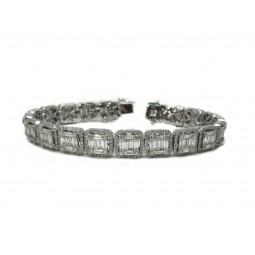 Gorgeous Baguette Cut Diamond Bracelet