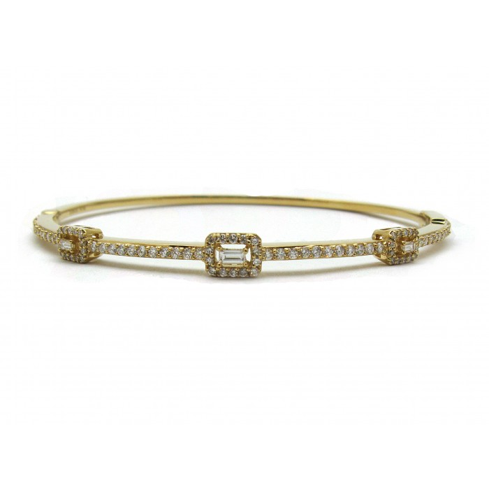 milano round tennis baguette and diamond golden bangles bracelet bangle