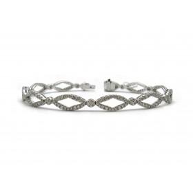Flexible Diamond Link Bracelet