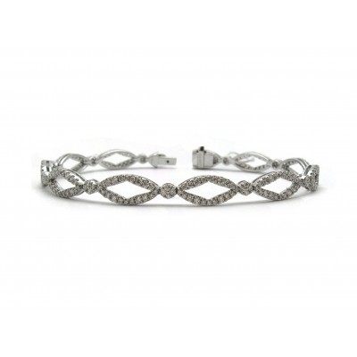 Flexible Diamond Link Bracelet
