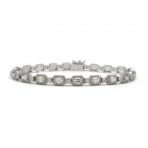 Gorgeous Baguette Halo Bracelet