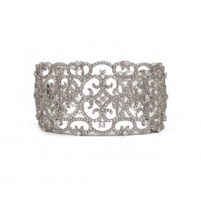 Filigree Wide Cuff Bracelet
