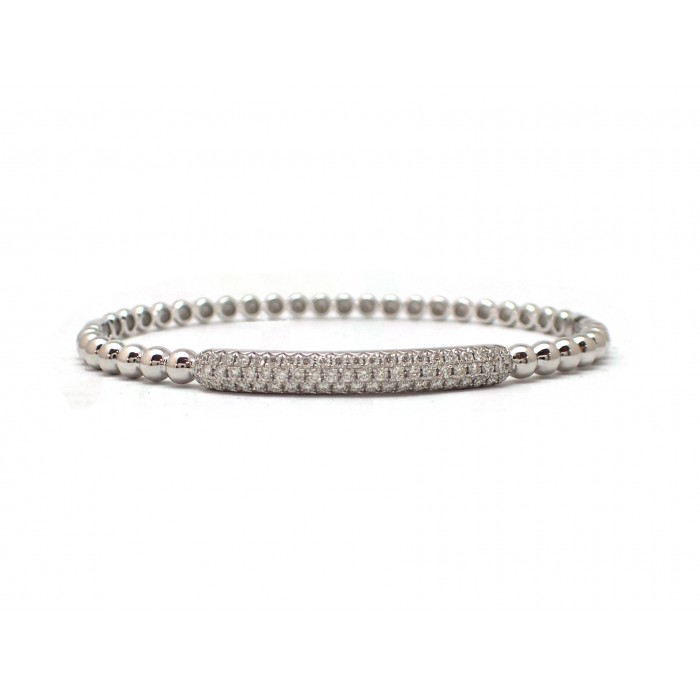 row bangle pyramid pave products dilarasaatci half bracelet diamond bangles two