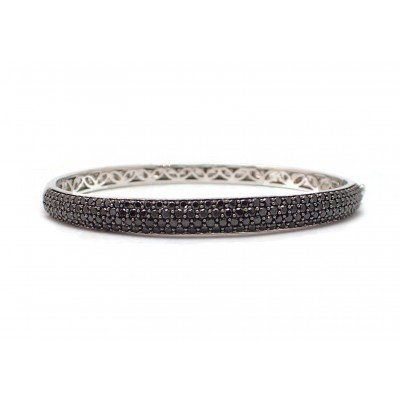 Pavé Black Diamond Bangle Bracelet