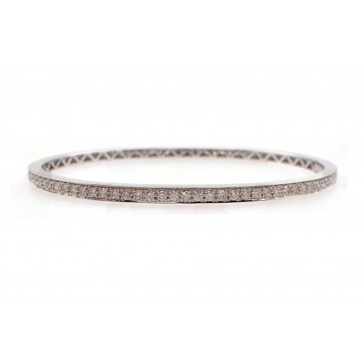 Bead Set Diamond Bangle Bracelet