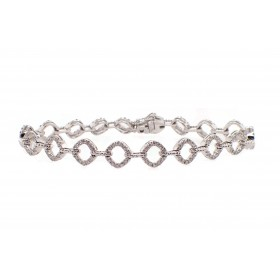 Open Link Diamond Bracelet