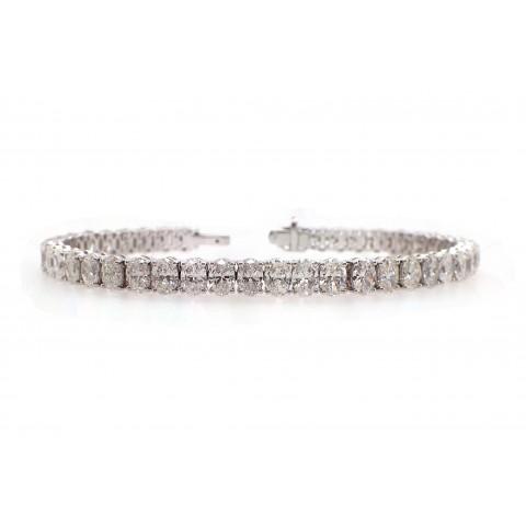 Oval Diamond Tennis Bracelet