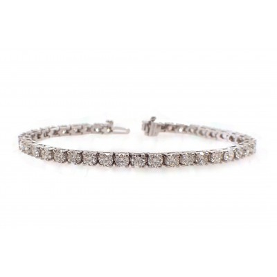 Classic Diamond Tennis Bracelet - 24pt Each