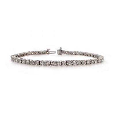 Classic Diamond Tennis Bracelet - 13pt Each