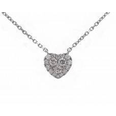 Diamond Heart Cluster Necklace