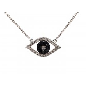 Eye of Providence Pendant with Black Diamonds