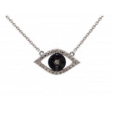Eye of Providence Pendant with Black Diamonds