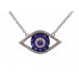 Eye of Providence Pendant with Sapphires