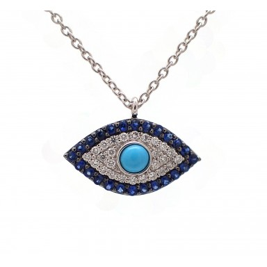 Eye of Providence Pendant with Turquoise