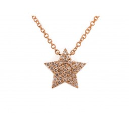 Yellow Gold Star Pendant