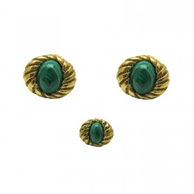 Tiffany Schlumberger® Malachite Cuff Link Set