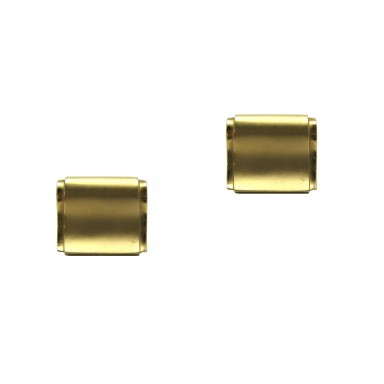 Sleek Yellow Gold Cuff Links