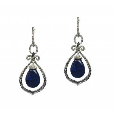 Chimes of Tanzanite Earrings