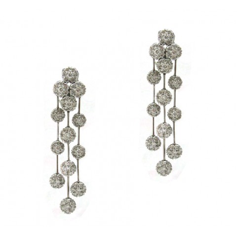 Hanging Blossom Diamond Earrings