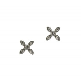 "Flower ""X"" Earrings"