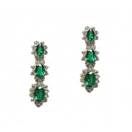 Emerald Hanging Earrings