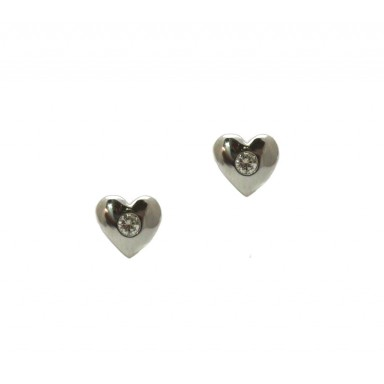 Heart and Diamond Earrings
