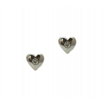 Heart and Diamond Earrings