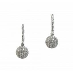 Pavé Diamond Ball Earrings