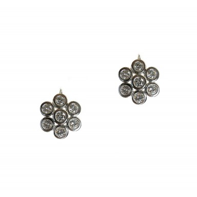 Hex Diamond Earrings