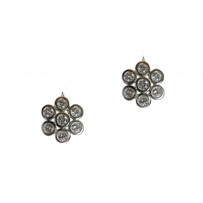 Hex Diamond Earrings