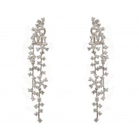 Snowing Diamonds Hanging Earrings