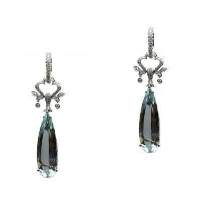 Antique Style Aquamarine Earrings