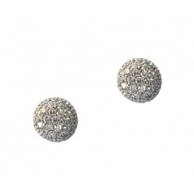 Domed Pavé Cluster Earrings