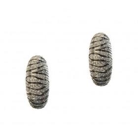 Zebra Huggie Earrings