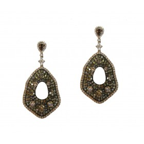 Impressive Multicolored Diamond Earrings